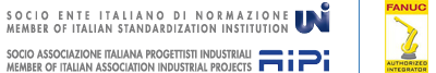 Socio UNI Ente Italiano di Normazione - Socio AIPI Associazione Italiana Progettisti Industriali